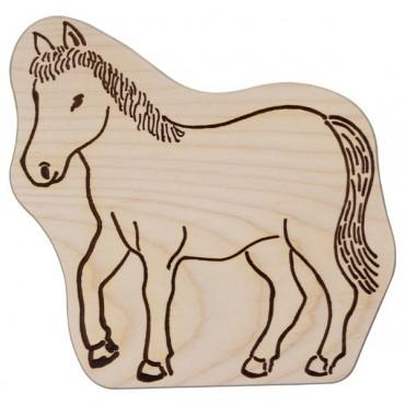 Kinderbrettchen Pferd