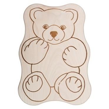 Kinderbrettchen Bär