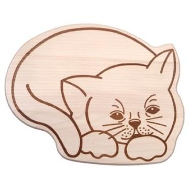 Kinderbrettchen Katze
