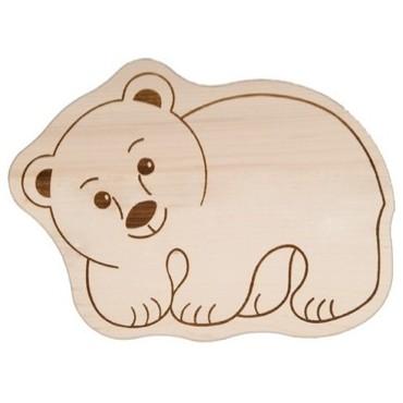 Kinderbrettchen Eisbär