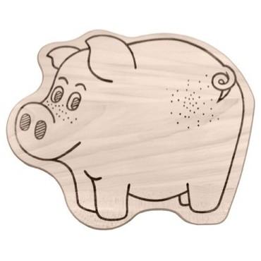 Kinderbrettchen Schwein