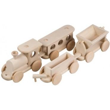 Zug und 3 Waggons