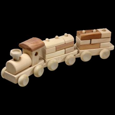 Lok und zwei Wagen mit...